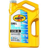 Pennzoil 550051123-3PK Platinum Euro Full Synthetic 5W-30 Motor Oil, 5 Quart, 3 Pack