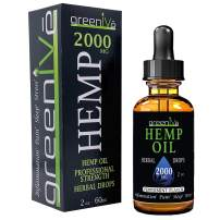 GreenIVe - Hemp Oil - Premium Quality Hemp Plant Oil - USA farmed and Bottled - Exclusively on Amazon (2 Ounce 2,000mg, Peppermint)