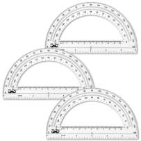 Mr. Pen- Protractor, 6 Inch Protractor, Pack of 3, Protractor Ruler, Drafting Tools, Protractor for Kids, Protractors Classroom Set, Large Protractor, Protactor 6 Inch, Math Geometry, School Supplies