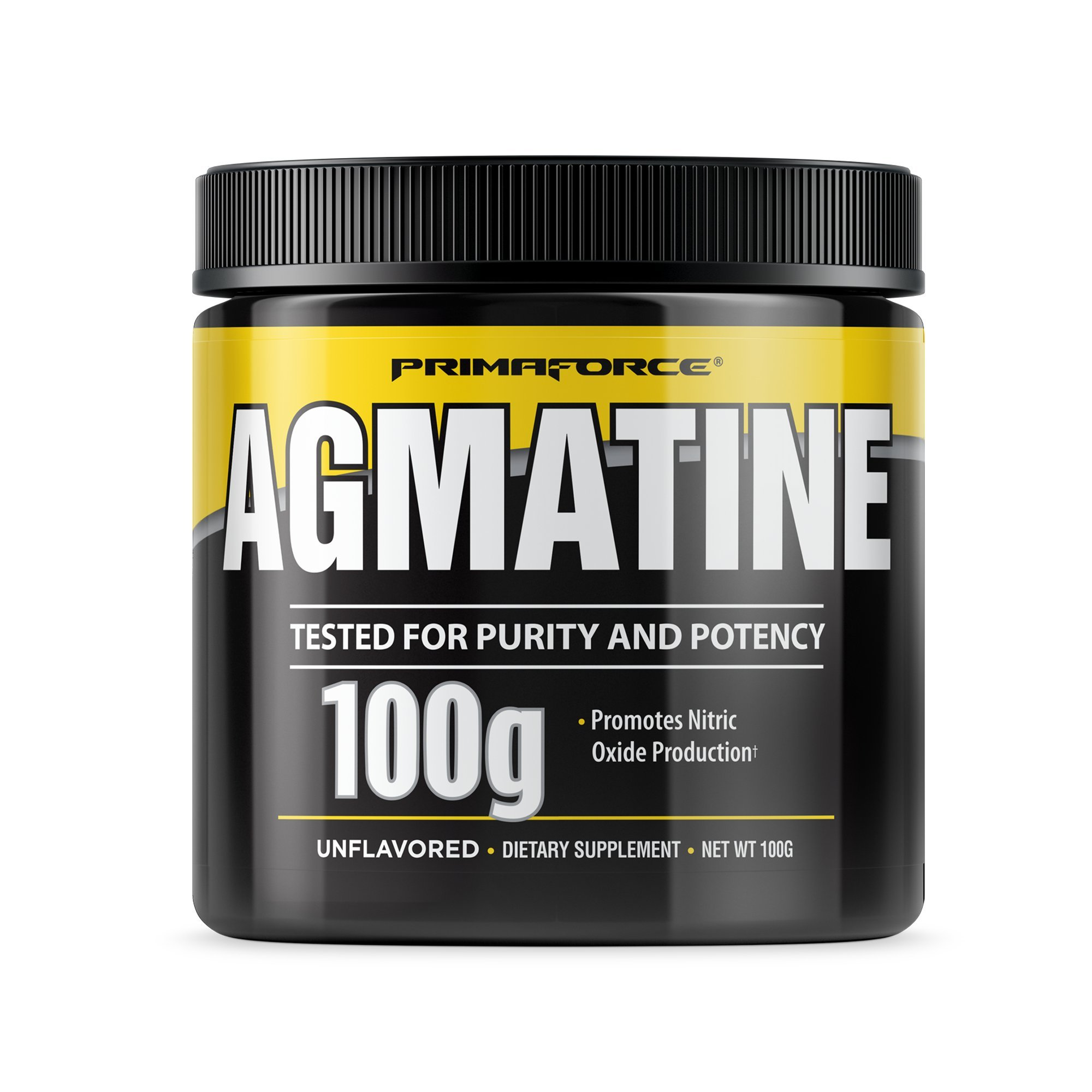 PrimaForce Agmatine Sulfate Powder Supplement, 100 Grams – Promotes Nitric Oxide Production / Enhances Performance