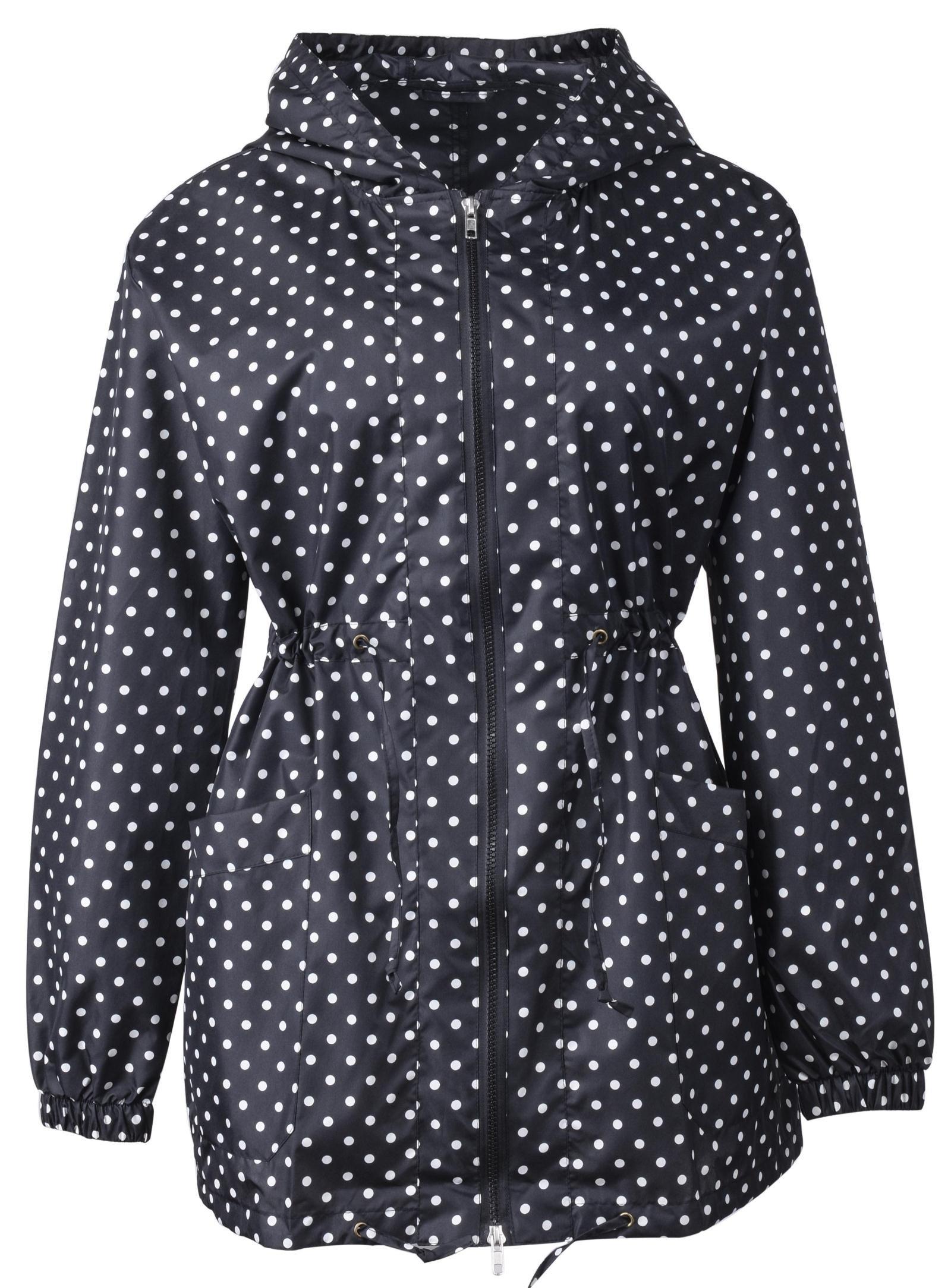 QZUnique Women's Packable Waterproof Rain Jacket Outdoor Raincoat with Zipper