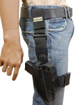 Barsony New Tactical Leg Holster w/Single Mag Pouch for Compact 9mm 40 45