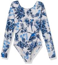 Seafolly Girls' Long Sleeve One Piece Swimsuit with Open Tie Back