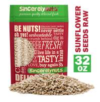 Sincerely Nuts Sunflower Seed Kernels Raw (No Shell) (2lb bag) | Delicious Antioxidant Rich Snack | Source of Protein, Fiber, Essential Vitamins & Minerals | Vegan and Gluten Free