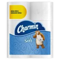 Charmin Ultra Soft Mega Roll Toilet Paper, Mega, 24 Count