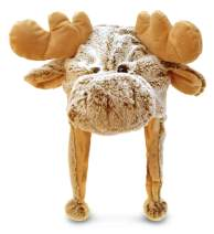 """Puzzled 18"""" Soft Moose Plush Hat Cozy Party Costume Head Accessories, Moose Costume Faux Fur Hat, Fluffy Moose Cap, Funny Beanie Stuffed Animals Hat, Warm Fleece Crazy Hats, Kids Winter Hat - One Size"""