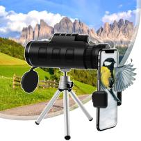 40X60 Monocular Telescope for Smartphone, Monocular with Holder & Tripod, HD Monoculars with Night Vision Dual Focus BAK4 Prism for Adults Bird Watching Camping Wildlife Hiking (Upgrade)