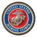 USMC Seal Car Door Magnet