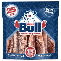 ValueBull USA Lamb Trachea Dog Chews, 6-9 Inch, 25 Count