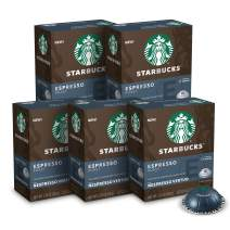 Starbucks by Nespresso Capsules for Vertuo Machines — Dark Roast — 5 boxes pods total, Espresso Roast, 50 Count