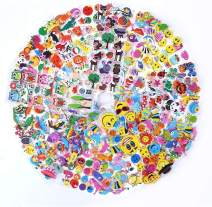 LOKIPA 1200 Puffy Stickers for Kids, 36 Different Sheets 3D Puffy Animal Stickers, Including Animals,Fish,Dinosaur,Smile Face,Flower