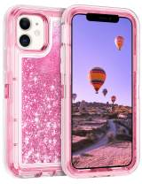 Coolden Case for iPhone 11 Cases Protective Glitter Case for Women Girls Cute Bling Sparkle Heavy Duty Hard Shell Shockproof TPU Case for 2019 Release 6.1 Inches iPhone 11 iPhone XI, Pink