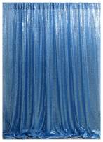 QueenDream Baby Blue Sequin Backdrop 7FTX7FT Sequin Curtains Drape Photography Party Backdrops Wedding Backdrops