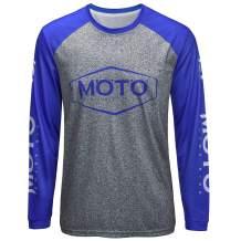 Wisdom Leaves Men's Mountain Bike Jersey Long Sleeve Downhill&Motocross Shirts Breathable/Moisture-Wicking T-Shirt