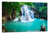 LightFairy Wall Art for Living Room - Glow in The Dark Canvas Painting - Stretched and Framed Giclee Print - Waterfall in Thailand - Wall Decorations for Bedroom - 36 x 24 inch