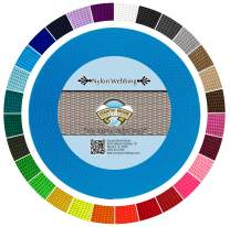 Country Brook Design - Durable 1 Inch Heavy Nylon Webbing - 29 Vibrant Colors (Ice Blue, 20 Yards)