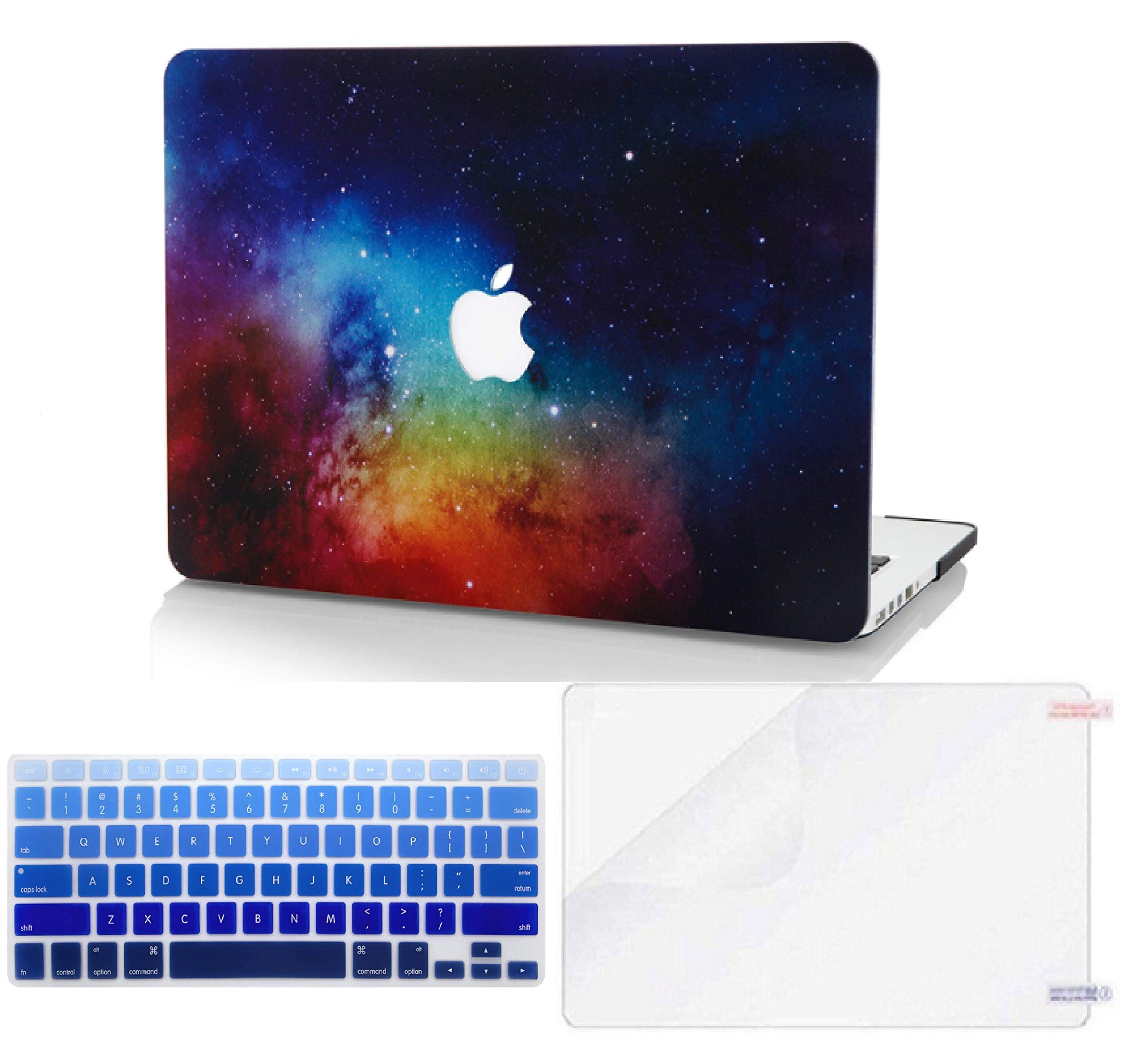 """KECC Laptop Case for MacBook Air 13"""" w/Keyboard Cover Plastic Hard Shell + Screen Protector A1466/A1369 3 in 1 Bundle (Night Dream)"""