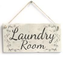 "Meijiafei Laundry Room - Rustic Country Hanging Door Or Wall Sign/Plaque 10""x5"""