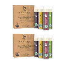 Organic Lip Balm Flavor Pack - 8 Tubes of Natural Lip Balm, Lip Moisturizer, Lip Treatment for Dry Lips, Lip Care Gifts for Women or Men, Lip Repair, Organic Chapstick for Soft Lips, Stocking Stuffers