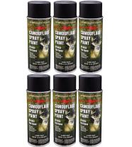 Majic Paints 8-206851-8 Camouflage Spray Paint 6-Pack, Aerosol, Black