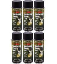 Majic Paints 8-206851-8 Camouflage Spray Paint 6-Pack, Aerosol, Black