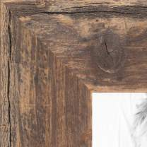 """ArtToFrames 12x18 Inch Brown Picture Frame, This 1.5"""" Custom Wood Poster Frame is Real Reclaimed Brown Barnwood 1.5 Inch, for Your Art or Photos, WOMRFB-150-TOB-12x18"""