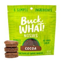 BuckWHAT Cocoa Noshes | Delicious Nut Free Bar Bites | Gluten Free, Plant Based, No Added Sugar | Kosher, Protein & Fiber | 6-2oz packs with 3 Snacks Each