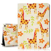 Hepix Cute Giraffe iPad 9.7 Case Pretty Flowers iPad Air Case, Protective iPad 6th Generation Case, PU Leather Lightweight iPad Cover with Multi-Angle
