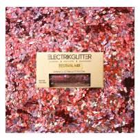 Biodegradable Glitter Chunky Glitter for Festivals. Eco Friendly Body Glitter for Hair Glitter, Nail Glitter, Face Eyeshadow glitter, Rave accessories, Holographic glitter makeup (pink violet)