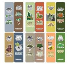 Creanoso Forest Jokes Bookmarks (60-Pack) - Premium Quality Gift Ideas for Children, Teens, & Adults for All Occasions - Stocking Stuffers Party Favor & Giveaways
