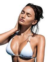 RELLECIGA Women's Triangle String Bikini Top