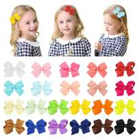 Hair Bows for Baby Girl,SS SHOVAN 22 PCS Multi-colored Bows for Girls Boutique Grosgrain Ribbon Hand-made Gift for Baby Girl Teen Toddler Kid