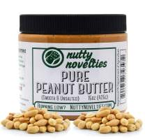 Nutty Novelties Pure Peanuts Peanut Butter - High Protein, Low Sugar Healthy Peanut Butter - All-Natural Peanut Butter Free of Cholesterol & Preservatives - Vegan Peanut Butter - 15 Ounces