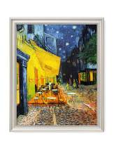 DECORARTS - Cafe Terrace at Night, Vincent Van Gogh Art Reproduction. Giclee Print& Framed Art for Wall Decor. 16x20, Framed Size: 19x23