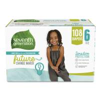 Seventh Generation Baby Diapers, Size 6, 108ct, 108 Count