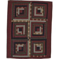 VHC Brands Rustic & Lodge Pillows & Throws-Cumberland Red Quilted Bedding Accessory, Throw 60x50