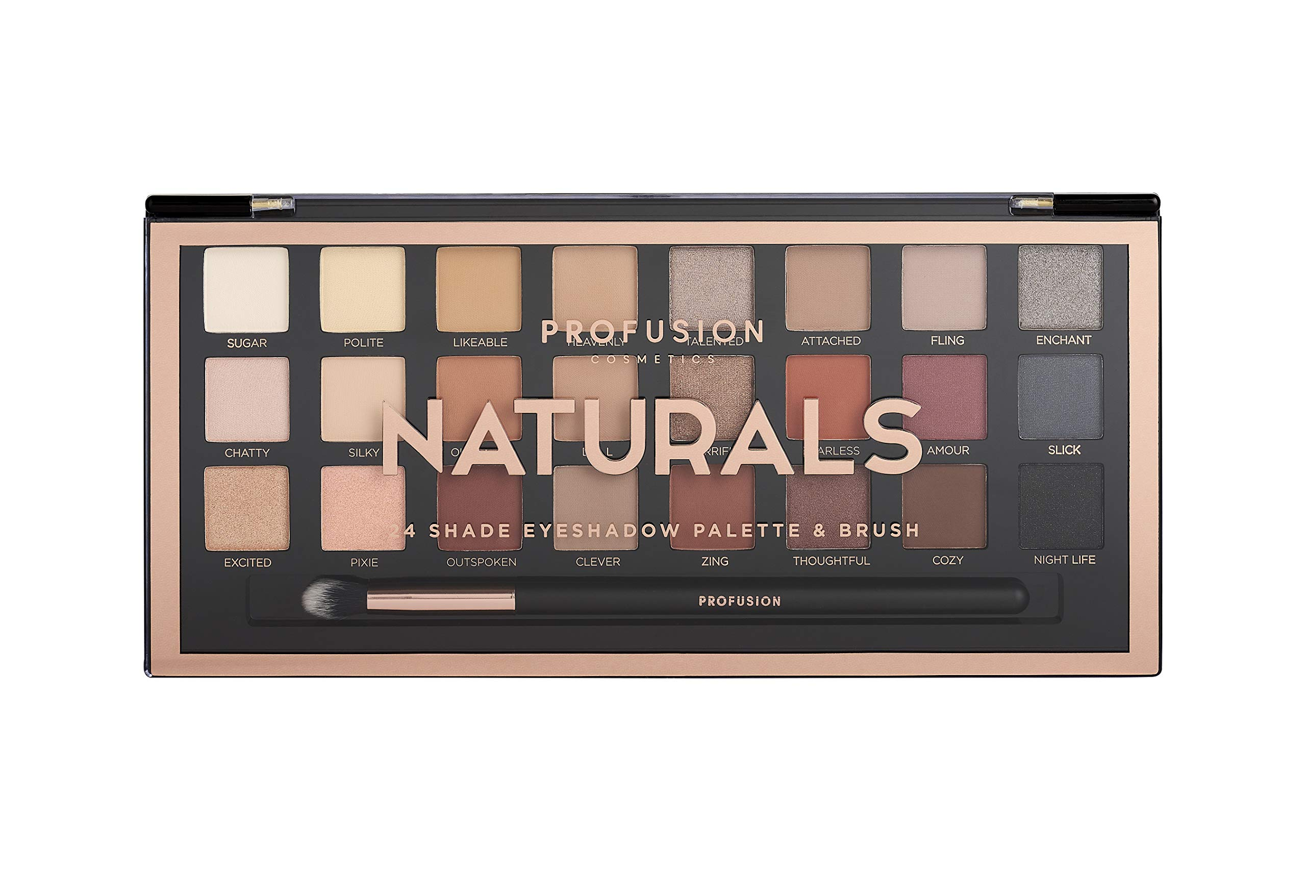 Profusion Cosmetics - Professional Artistry Pro Eyeshadow Palette, Natural