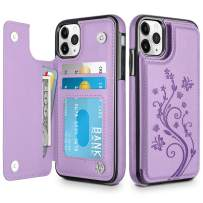 HianDier Wallet Case for iPhone 11 Pro MAX Slim Protective Case with Credit Card Slot Holder Flip Folio Soft PU Leather Magnetic Closure Cover for 2019 iPhone 11 Pro Max, Purple
