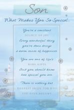 Kuwugi Stunning Son What Makes You SO Special 5 Verse Birthday Greeting Card