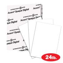 Accent Opaque Printer Paper, 30% Recycled Paper, White Paper, 24lb Copy Paper, 11x17 Paper, 1 Ream / 500 Sheets - Smooth Finish (188103R)