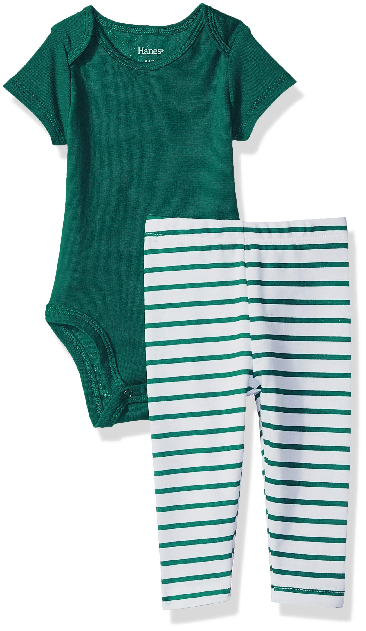 Hanes Ultimate Baby Flexy 2 Piece Set (Pant with Short Sleeve Bodysuit)