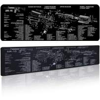 AmyZone Extra Large Gaming Mouse Pad AR 15 Gun Cleaning Mat Stitched Water&Solvent Resistant Non-Slip Mousepad for Laptop PC Desk/Rifle Shotgun Pistol Handgun Cleaning