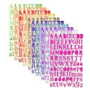 Sunmns Colorful Letter Alphabet Sticker Self Adhesive Letters, 10 Sheets