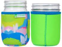 JarJackets Neoprene Mason Jar Protector Sleeve - Fits 16oz (1 pint) Jars (1, Lime Green)