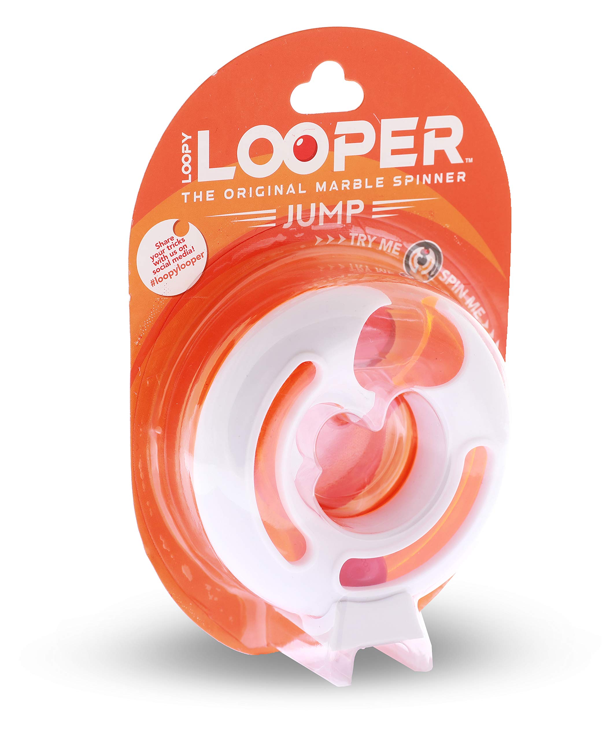 Blue Orange Loopy Looper Jump- The Original Marble Spinner- Skill Fidget- for Kids Ages 8 Years and Up