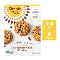 Simple Mills Almond Flour Mix, Chocolate Chip Cookie, 9.4 Ounce (Pack of 6)  (PACKAGING MAY VARY)