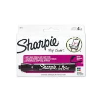 Sharpie Flip Chart Markers, Bullet Tip, Assorted Colors, 4 Pack - 22474