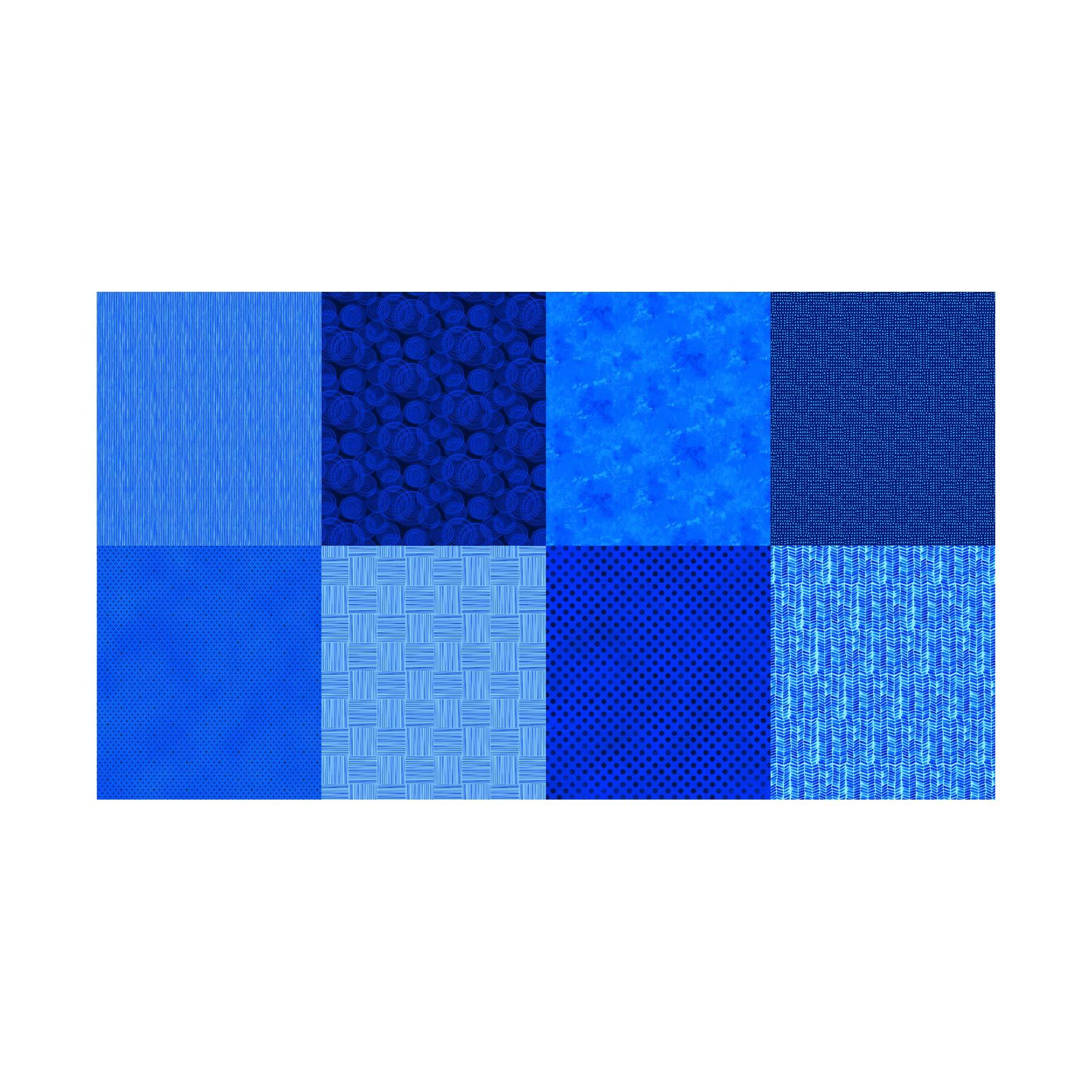 Hoffman Fabrics Hoffman Digital Details 90'' Blender Panel Fabric, Sapphire