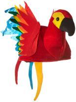 Plush Parrot Hat Party Accessory (1 count) (1/Pkg)