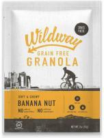 Wildway Keto, Vegan Granola   Banana Nut   Certified Gluten Free Granola Snack Packs, Grain Free, Paleo, Non GMO, No Artificial Sweetener   4 Pack